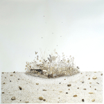 "Oasis, walnut ink on paper, 59 x 59"", 2013"